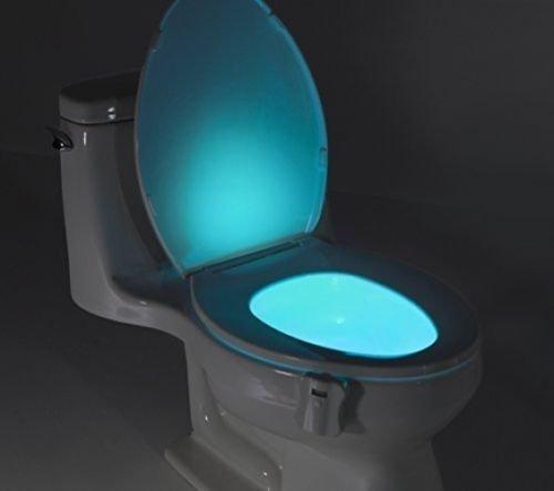 Stoga Sensore di movimento a LED, a risparmio energetico, 2colori, per WC