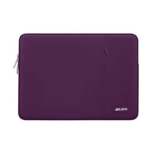 MOSISO Laptop Sleeve Hülle Kompatibel mit 13-13,3 Zoll MacBook Pro, MacBook Air, Notebook Computer, Polyester Vertikale Stil Laptoptasche, Magenta Lila
