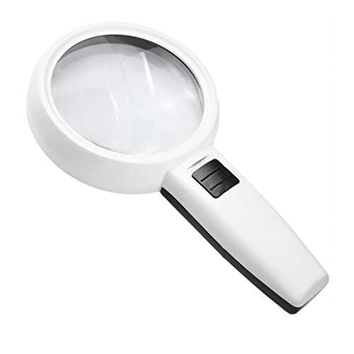 Lijianfeng 30 lupas con luz LED de Mano HD Clear Antiguas de Lectura cómodo 225 x 110 x 85 mm