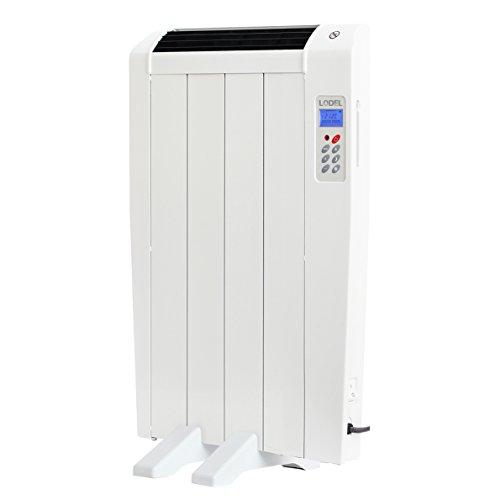 LODEL RA4 - Radiatore elettrico programmabile, riscaldamento rapido, uso ideale ≤1 ore, stanze inferiori a +/- 8 m², 600W