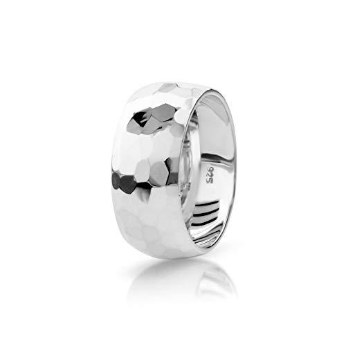 Mittlerer Flachrohr-Hammerform Sterling Silber Ring (P)
