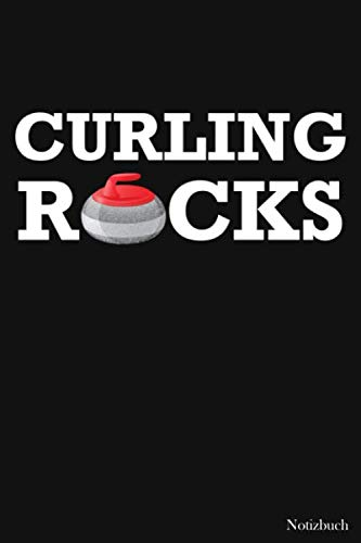 Notizbuch: Curling Rocks Notizbuch   Für Taktik, Strategie & Training   105 gepunktete Seiten   Format ca. A5  