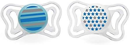 Chicco Physio Light Succhietto Silicone, 6-12 Mesi, 2 Pezzi, Colori Assortiti, Azzurro