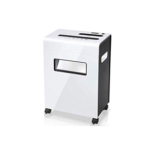 Best Deals! FGH QPLKKMOI Cross-Cut Paper Shredder, Credit Card Shredders for Home Office Use, Electric Office Low Noise Dual Inlet Shredder Low Noise