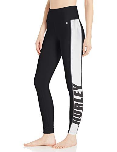 Hurley W Sport Block Hybrid Surf Legging Leggings, Mujer, Black, M