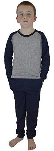 CityComfort Pyjamas Jungen, 100% Baumwolle Schlafanzug für Jungen und Teens, Zweiteilige Kinder Pyjama Jungen 5-13 Jahre (5-6 Jahre, Blau)