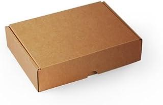 Selfpackaging Caja Rectangular automontable en cartón microcanal Color Kraft. La Caja envíos Postales - S