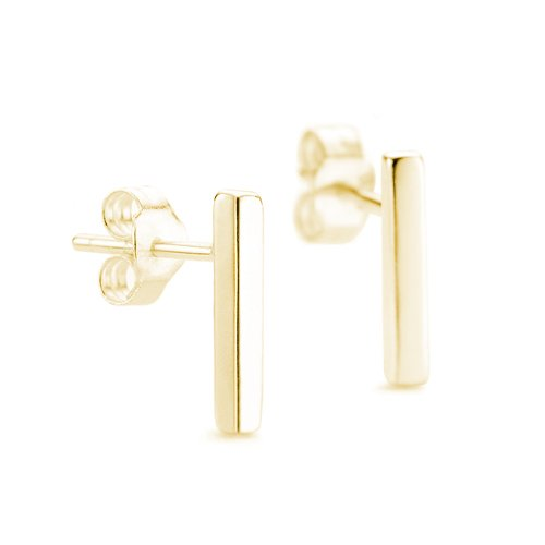 Line Bar Studs 9ct yellow gold Earrings