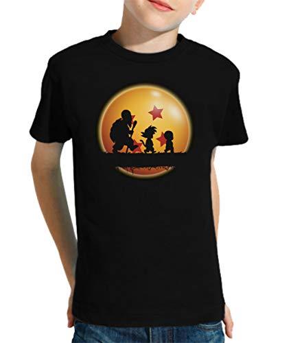 The Fan Tee Camiseta de NIÑOS Dragon Ball Goku Vegeta Bolas de Dragon Super Saiyan 024 9-10 años