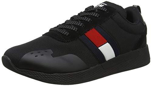 Tommy Hilfiger Herren Flag Flexi Tommy Jeans Sn Sneaker, Schwarz (Black Em0em00331-990), 42 EU