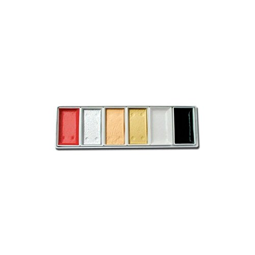 6 Piece Japanese Watercolor Set- Traditional Colors