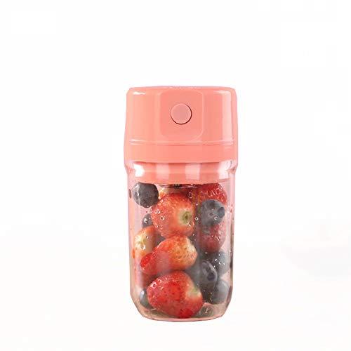 YQY Tragbare Mini-Mixer, 350ml Personal Blender Smoothie-Hersteller Fruit Mischmaschine, Mini Jucier Cup USB aufladbare, für Haus, Büro, Sport, draußen,Rosa