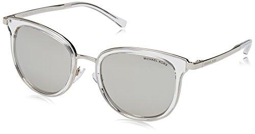 MICHAEL KORS Adrianna I, Gafas de Sol Unisex-Adulto, Blanco (Clear/Silver 11026G), 54