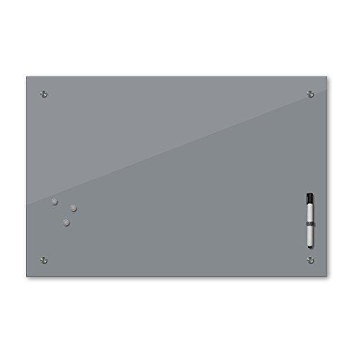 Bilderdepot24 Memoboard - 80 x 60 cm, 24 Farben - grau - Glas - Glasboard - Glastafel - Magnetwand - Pinnwand - Mehrzwecktafel Farbton - Grundfarbe - einfarbige Schreibtafel