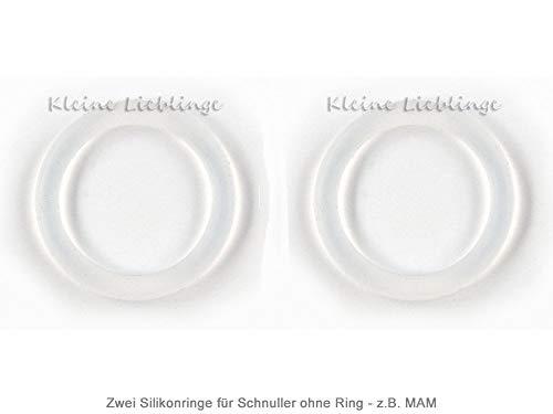2 Silikonringe (Silikonadapter) für Schnullerketten - keine Versandkosten innerhalb Deutschlands