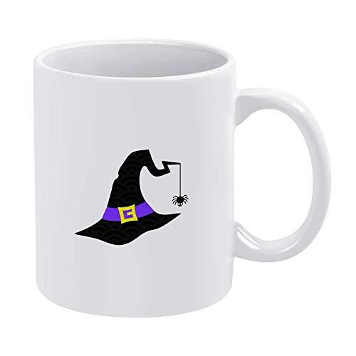 N\A Becher Hexenhutbecher, Halloween-Clipart-Becher, Halloween-Becher, Halloween-Hemd, Monogramm-Becher, Spinnenbecher Keramik-Kaffeetasse Einzigartige Kaffeetasse & Geschenkidee Vatertagsgeschenk 11