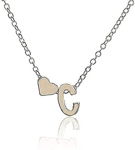WYDSFWL Collar Collar Inicial Personalidad Letra Nombre Colgante de Oro Joyas Regalo Collar de Oro Regalo