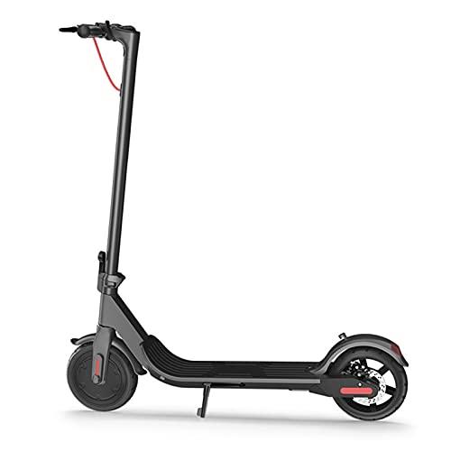 ZXQZ Scooter Electrico, Scooter Eléctrico Plegable para Adultos De 9 '', hasta 25 Km/H, 120 Kg De Carga (Color : Black)