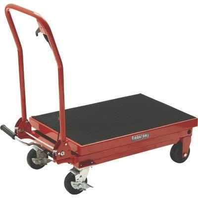 Ironton Hydraulic Table Cart - 1000-Lb. Capacity, 34 3/4in. Lift