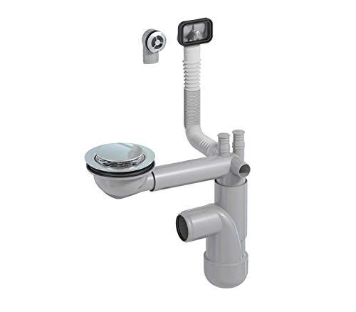 PREVEX Flexloc Siphon, platzsparend, universal, für die Küchenspüle