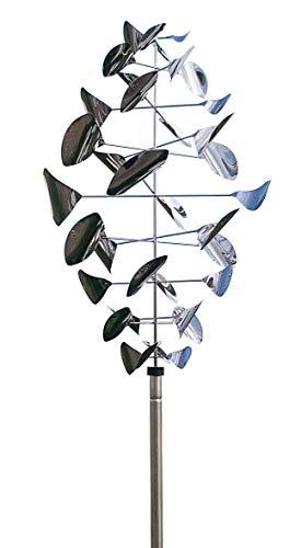 ERRO Wind-Dancer Zirbel OW2734, Windspiel Geschenk für Gartenfreunde, Außendeko, Geburtstagsgeschenk, Vatertagsgeschenk, Windchime, Windrad, Windläufer, Edelstahl Deko