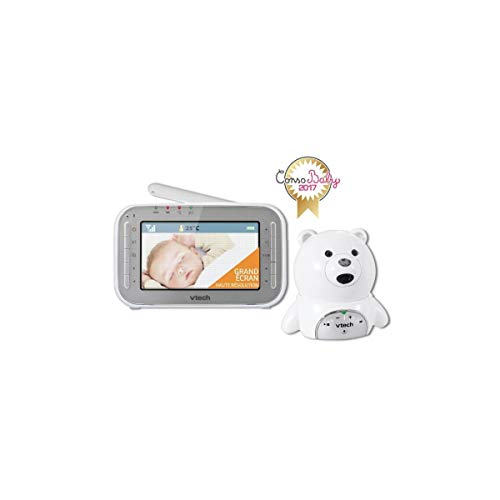 "vtech BM4200 ""Bär"" Babyphone mit Videofunktion, Weiß"
