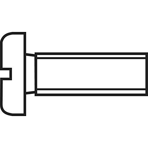 TOOLCRAFT Zylinderkopfschraube Schlitz DIN84 5.8 M1,2x10 20er