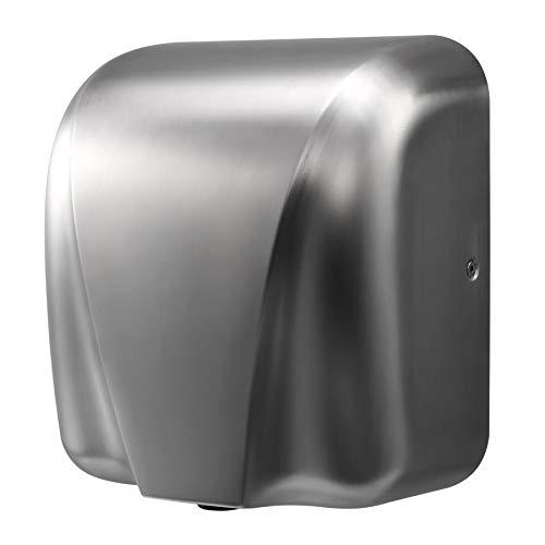 Valens Secador de Manos 1800W Secador de Manos Eléctrico de Acero Inoxidable para Baños Hogar Comercial Industrial, 22000 R/H Secamanos Automático de Alta Velocidad (Acero Pulido)