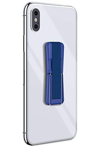 ONEFLOW® ClipGrip - Handy Fingerhalterung mit Ständer für alle Vernee Handys | Handyständer Ring Finger Halter Handyring Selbstklebend, Blau