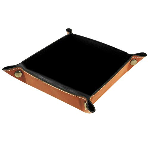 KAIXINJIUHAO Caja de almacenamiento abstracta color negro, llaves, reloj, organizador de mesita de noche, caja de almacenamiento de escritorio, 16 x 16 cm