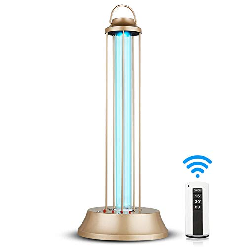 Luftreiniger zur Sterilisation Lampe UVC antibakterielle Rate 100% tragbare Ozon UV-C Desinfektionsmittel Desinfektionslicht UV-keimtötende Lampe (60W mit Fernbedienung)