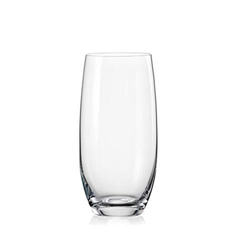 Vaso para beber, jugo de leche, vaso de vino extranjero y vaso de whisky, vidrio transparente sin plomo, un juego de 2 largos A5