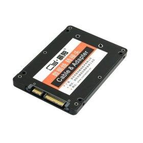 ChenYang Adapter Mini PCI-E mSATA SSD auf 6,35 cm (2,5 Zoll) SATA-Festplattengehäuse, Konverter für Intel, Samsung, Asus, Schwarz
