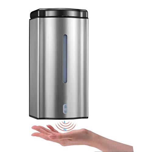 Sooiy Dispensador de jabón, Botella desinfectante para Manos con Sensor de Acero Inoxidable montado en la Pared automático, para Cabina de Ducha de Gel de champú para baño de Hotel (Color: metálico)