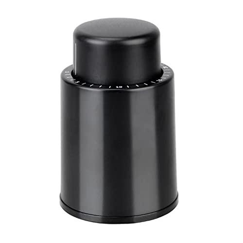 1pc Negro Abdominales Tope de Botella de Vino al vacío Almacenamiento Sellado de Vino Tapón de Vino Herramientas de Barra de Vino Cap de Vino Mantenga de Barras Fresco