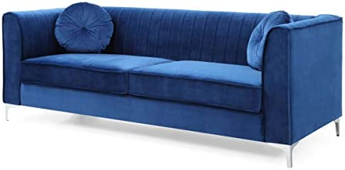 Glory Furniture Delray Sofa Navy Blue Living Room Furniture 3 Seater product image