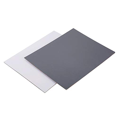 Tarjeta de tamaño A4 2 en 1, Color Gris y Blanco, 18% de exposición, Tarjeta de fotografía Personalizada, Tarjeta de Referencia para cámara de calibración de vídeo