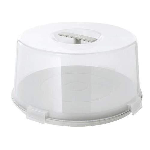 Unbekannt IKEA Tortenträger KRISPIG Wende-Tortenplatte mit Deckel und Zwei Funktionen - geeignet für Mikrowelle, Spülmaschine, Gefrierfach - Höhe: 17 cm Durchmesser: 36 cm