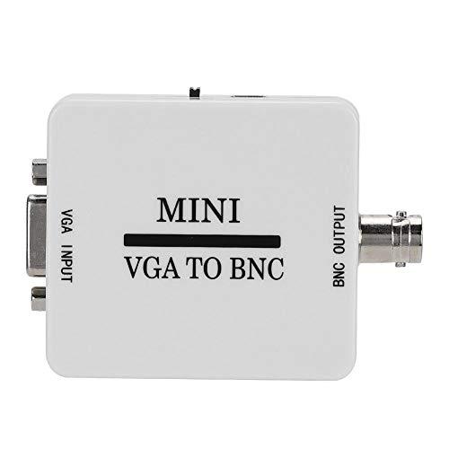 V ESTLIFE - Convertidor VGA a BNC, adaptador de vídeo HD VGA a BNC, convertidor de audio Mini 1080P para videoconferencia Home Theater monitores HDTV, TV, ordenadores, etc.
