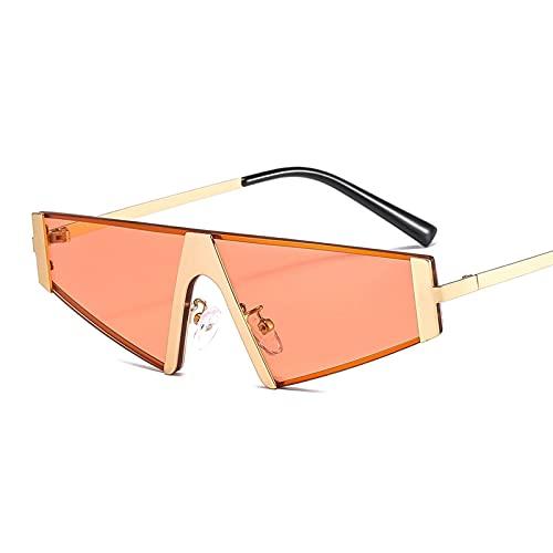 Gafas de Sol de diseñador de Vintage sin Montura para Mujeres Hombres de Lujo Pequeño Marco Cuadrado Gafas de Sol Sombras Sombras Oculos UV400 (Color : 8, Size : K)
