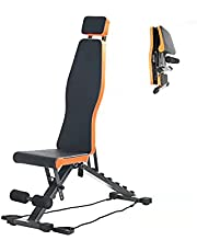 UBAYS- Adjustable Weight Bench Foldable, Home Gym Equipment, Flat Incline Decline Exercise Bench for Home Workout, Strength Fitness Training Bench for Full Body