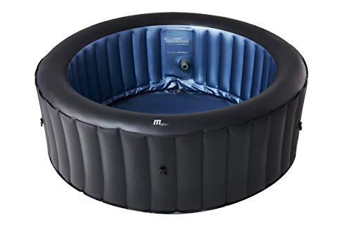MSPAUK Bergen Latest 2021 Mspa Portable Hot Tub Round Square 2/4/6 Persons Outdoor Bubble Spa Pool Jacuzzi Inflation Smart Filtration, UVC Sanitization Technology, 36 Degree Quick Heating, 4