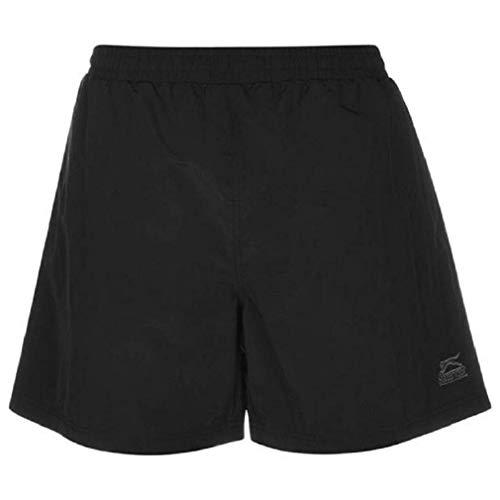 Slazenger Herren Badeshorts Sommer Strand Schwimmen Shorts Bermuda Kurze Hose Schwarz XXXX Large