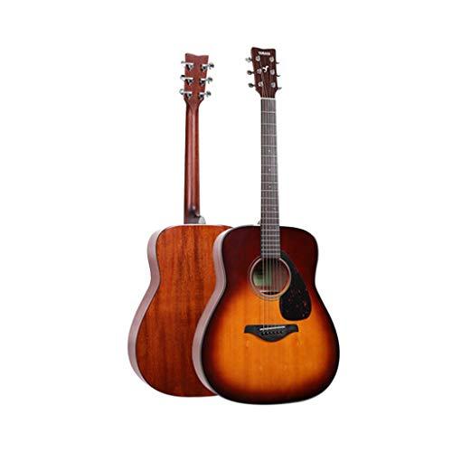 Musikinstrumente Gitarre E-Gitarre Yamaha Fg800 Folk Brett Electric Box Anfänger Schüler Männer und Frauen 41 Zoll Gitarren (Color : Sunset Brown, Size : 130 * 40 * 12cm)