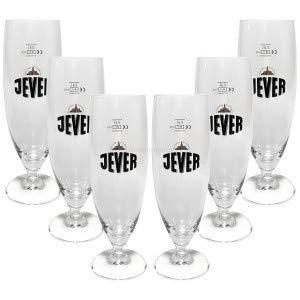 Jever Bierglas Bierpokal Glas Gläser-Set - 6x Pilstulpen 0,4l geeicht