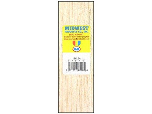 MIDWEST PRODUCTS 7008 BALSA WOOD BLOCK 2X2X12