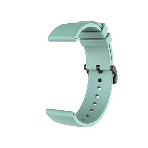LYB Correa de silicona para Xiaomi Huami Amazfit GTR 42 mm GTS Accesorios para pulsera My Xiomi Mi Smart Watch Band Correas de cuero (color verde esmeralda, tamaño: Amazfit GTR 42 mm)