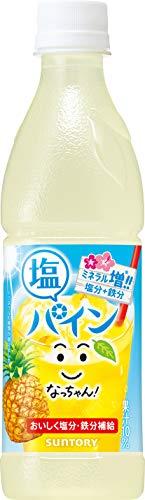 サントリー なっちゃん ひんやり塩パイン(冷凍兼用) 425ml×24本