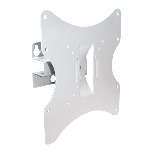 PureMounts LM-TS32W Soporte de pared para televisores de 25-107 cm (10-42 '), VESA 200x200, inclinable: +/- 20 °, giratorio: +/- 30 °, distancia de la pared: 90 mm, carga máxima: 30 kg, blanco