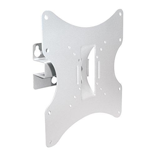 PureMounts LM-TS32W Supporto da parete per TV con 25-107 cm (10-42 '), VESA 200x200, inclinabile: +/- 20 °, orientabile: +/- 30 °, distanza dalla parete: 90mm, carico massimo: 30kg, bianco